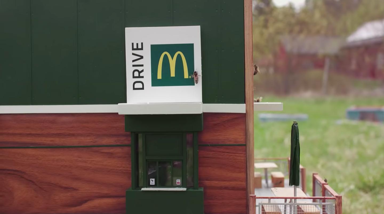 Opna minnsta McDonalds stað í heimi í Svíþjóð