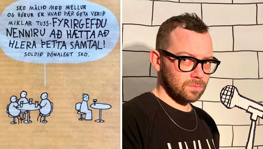 Hugleikur Dagsson gerir upp Klaustursmálið með stórkostlegri myndasögu
