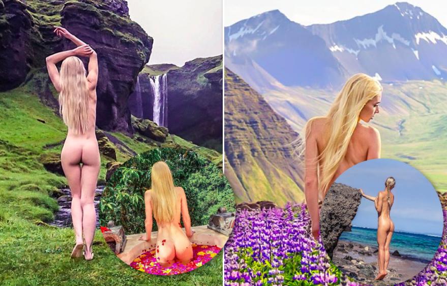Það er best að taka nektarmyndir á Íslandi samkvæmt þekktri Instagram-stjörnu