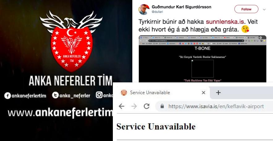 Tyrkneskir tölvuþrjótar taka ábyrgð á netárásinni sem Isavia varð fyrir