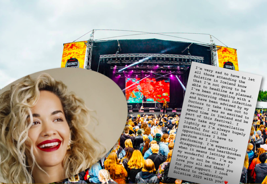 """Rita Ora staðfestir að hún kemur ekki fram á Secret Solstice í ár: """"Hjarta mitt er brotið"""""""