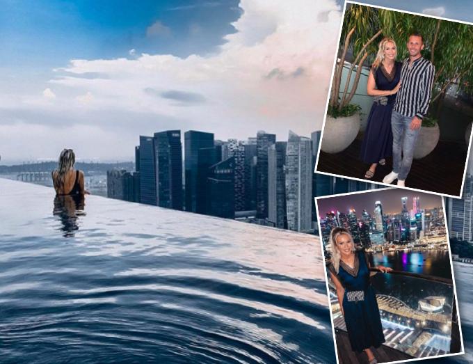 Gylfi og Alexandra mætt til Singapore - Sjáðu myndirnar