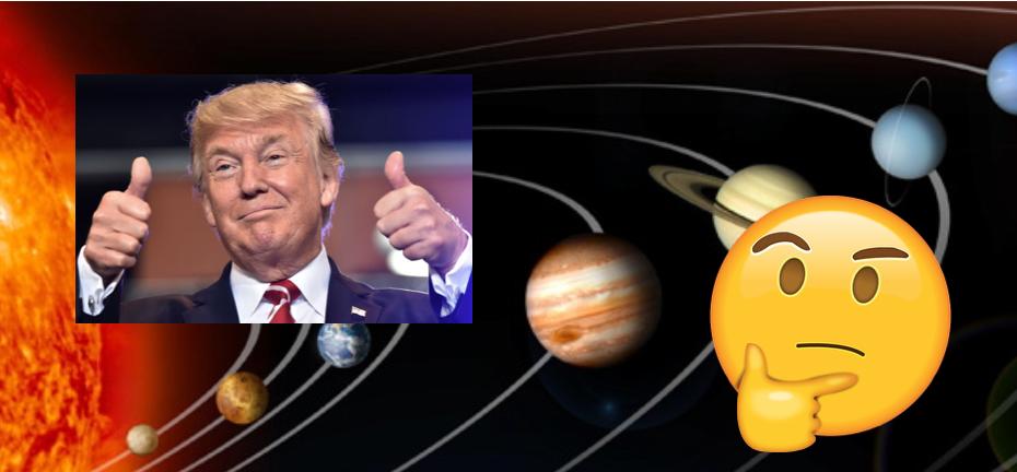 Trump segir að tunglið sé hluti af Mars