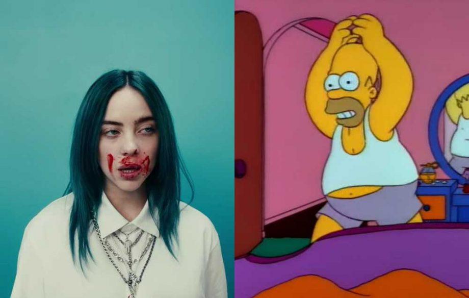Billie Eilish og Simpsons eru nýjasta æðið á Internetinu