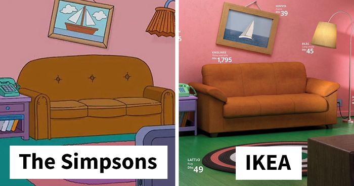 IKEA endurgerði frægar senur úr STOFUM - hjá Simpsons