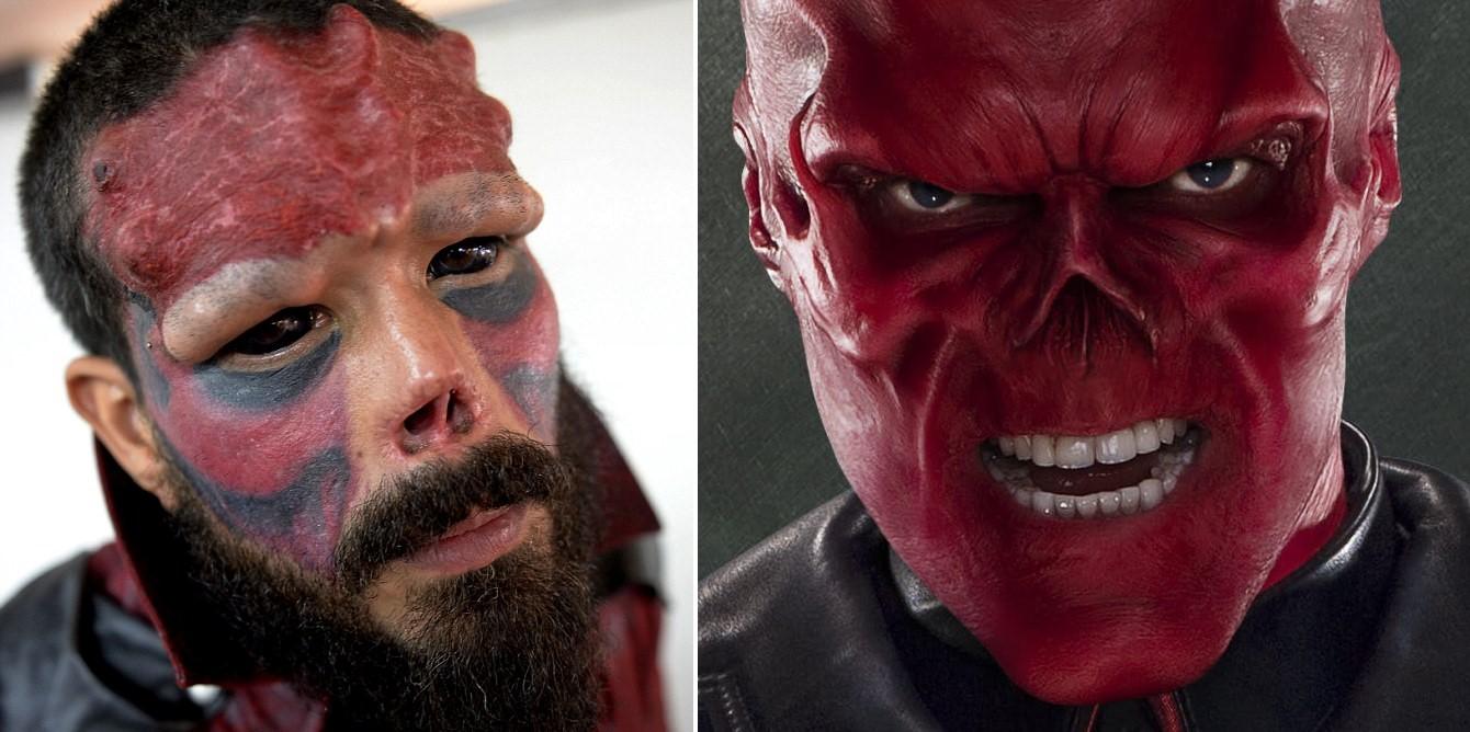 Lýtalækningar umbreyttu honum í Red Skull - Marvel ofuróþokkinn er hans fyrirmynd! - MYNDBAND