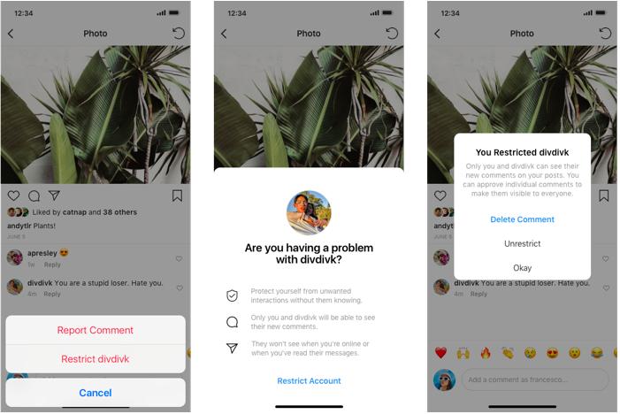Instagram sker upp herör gegn einelti á netinu