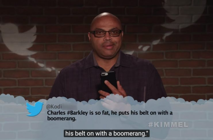 """""""Barkley þarf bjúgverpil til að setja á sig beltið.""""—NBA-leikmenn lesa illkvitin tíst"""