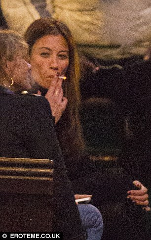 But she also admits to being a smoker