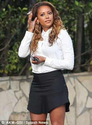 Spice Girl Mel B, 40, has been pictured smoking many times