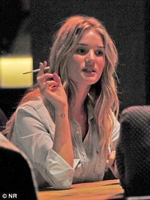 And the odd cigarette?