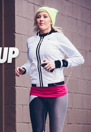 Singer Ellie, 29, last year teamed up with Nike to promote their sportswear (pictured) and launch a series of online exercise tutorials