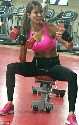 Melanie Sykes, 45, is a one-time 'fitness ambassador' for sportwear label Ellesse and supporter of a BUPA-backed exercise app
