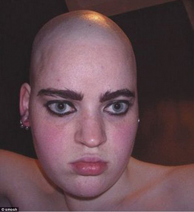 Taking a leaf out of Lily Collins's brow book, this person has decided that a bushy brow is a better brow