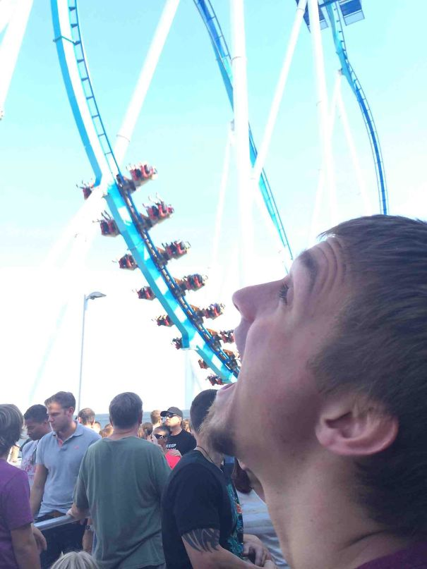 Bored In Line For A Roller-Coaster And Decided To Do This Because I Use My Time Wisely