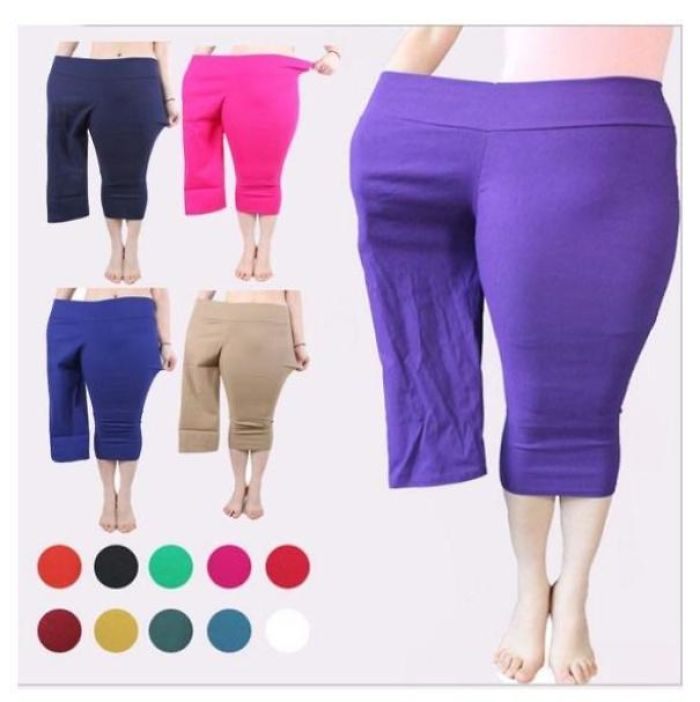 Advertising Plus-Size Leggings With A Small Model In One Leg Instead Of Getting A Plus-Sized Model