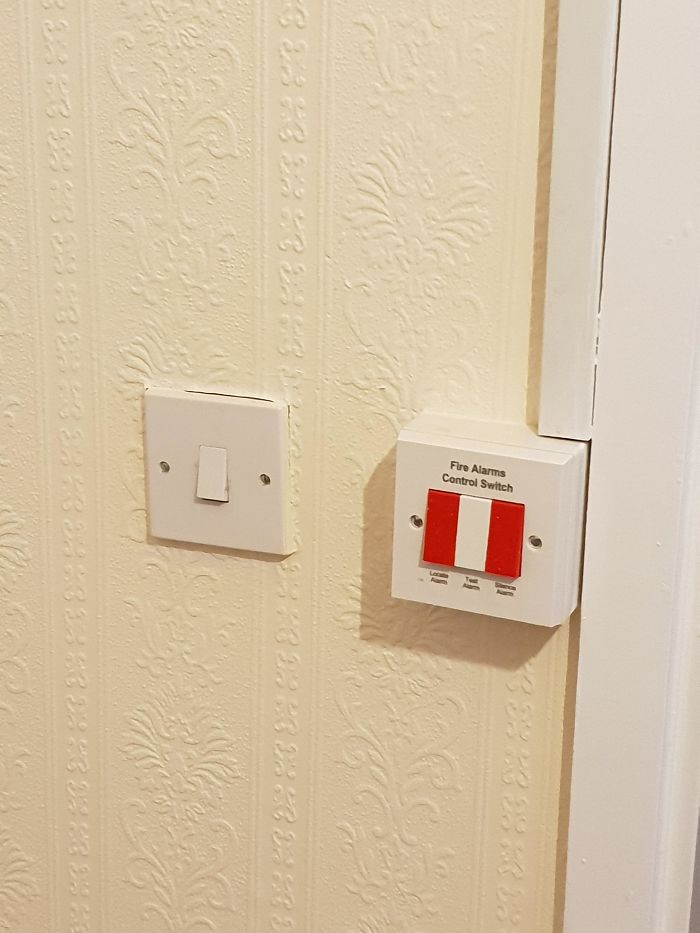 Putting The Bathroom Lightswitch Right Beside The Fire Alarm Control Switch In An Elderly Persons Home...