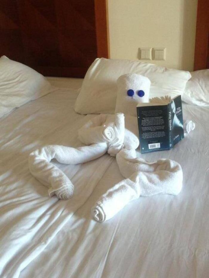 Hotel Staff Found Fifty Shades Of Grey Book On Guest's Side Table...