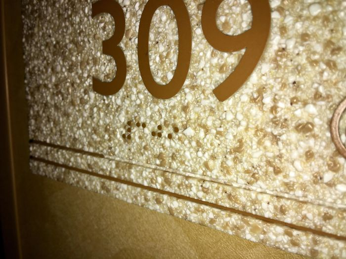 Braille Numbering On A Bumpy Surface