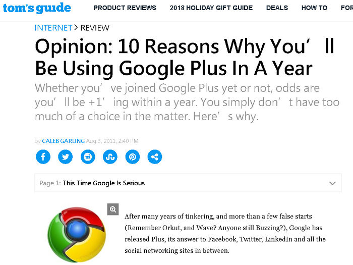 You All Will Use Google +
