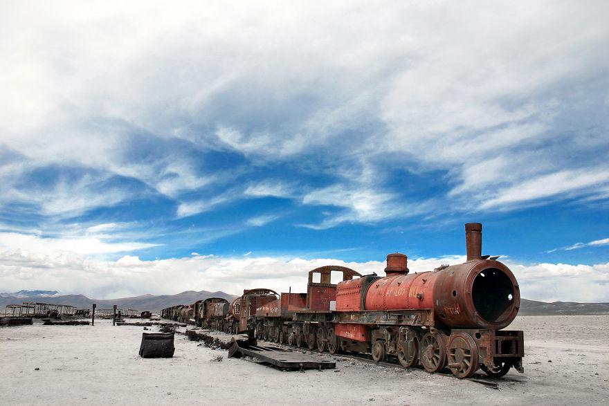An Abandoned Train Rusts Around Uyuni, Bolivia