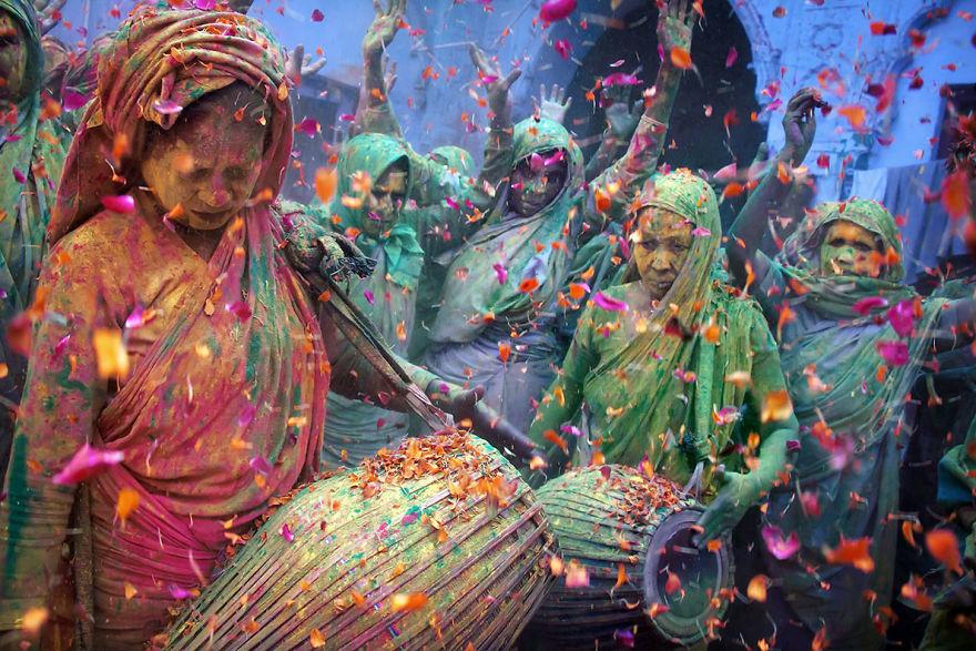 Holi Celebrations In Vrindavan, India
