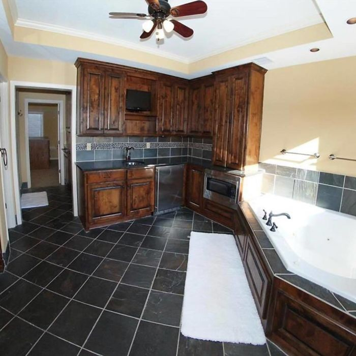 There's Fancy. Then There's Kitchenette In The Master Bathroom Fancy