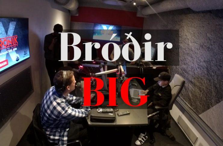 Bróðir BIG rappar í beinni í Kronik (fyrri hluti)