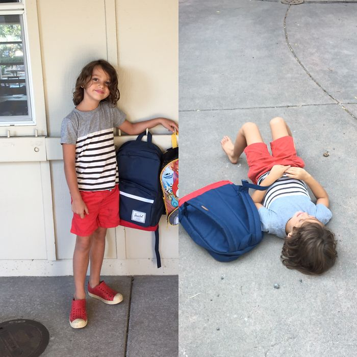 First Day Of School Is Rough.