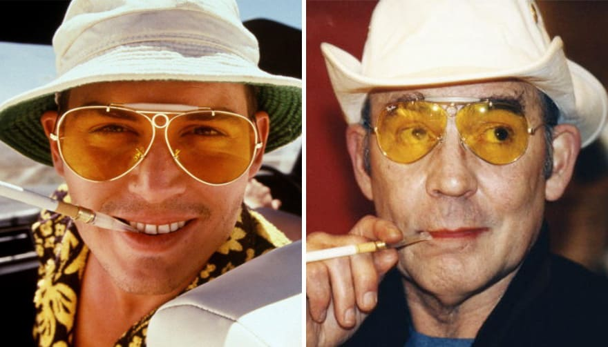 Johnny Depp As Hunter S. Thompson In Fear And Loathing In Las Vegas (1998)