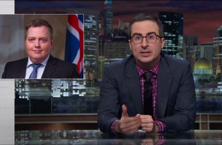 John Oliver ræðir Ísland og Sigmund Davíð