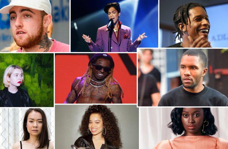 Prince, Teyana Taylor, Frank Ocean, o.fl.