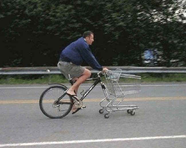 Really Stupid Or Pure Genius Ideas shopping cart front wheel