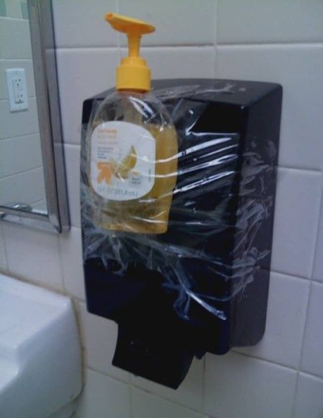 Really Stupid Or Pure Genius Ideas soap dispenser