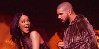 Rihanna bauð Drake upp á sviðið í fyrrakvöld – og alls kyns spurningar vöknuðu ...