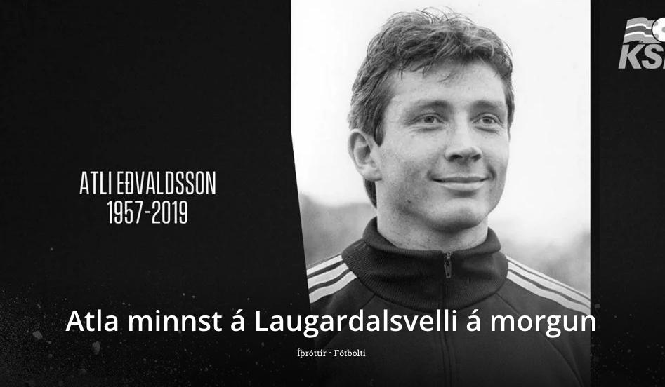 Minningarstund um Atla Eðvaldsson