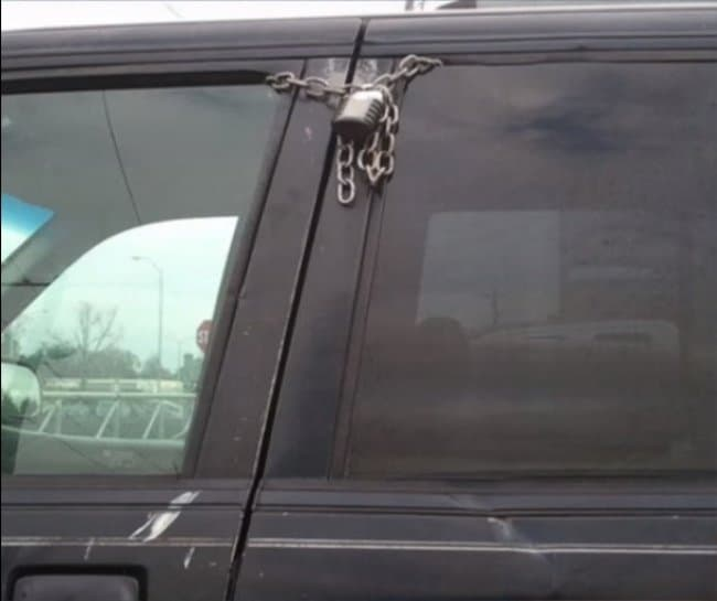Security Fails car window locks