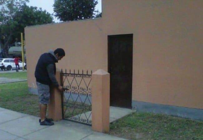 Security Fails isolated gate