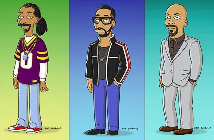 Snoop, RZA og Common í The Simpsons