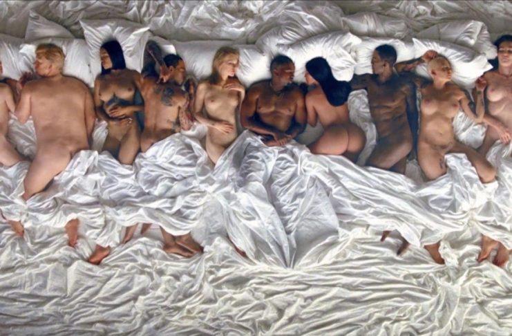 Taylor Swift, Bill Cosby, Donald Trump nakin í nýjasta myndbandi Kanye West