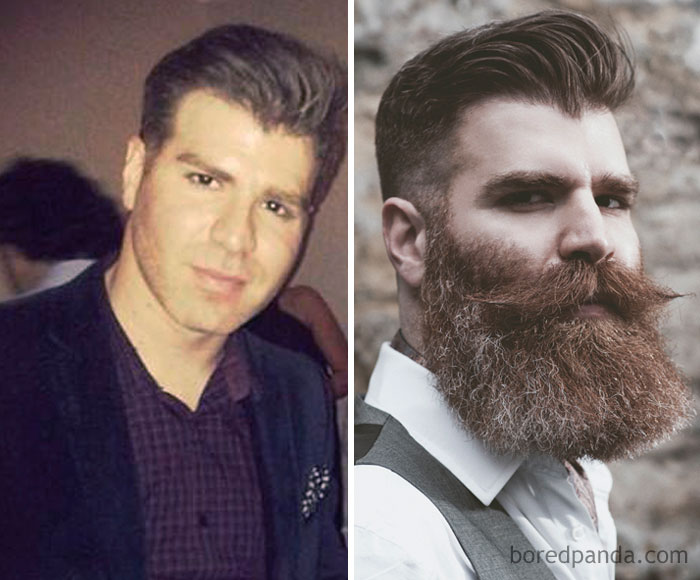 Not Sure If Eligible For 'Yeard' As I Trim The Beard On A Regular Basis These Days, But Alas, Here It Is: A Year On Ago Vs Now