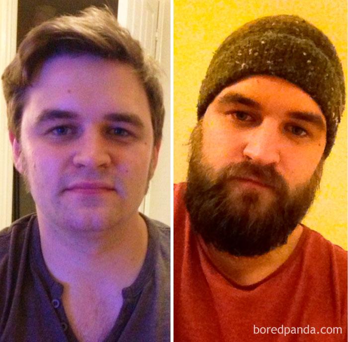 3 Months Ago I Was Clean Shaven