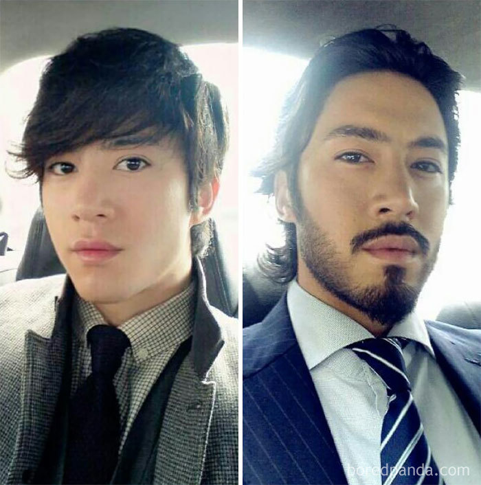 Before And After Growing A Beard
