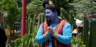 Crosswalk the Musical Aladdin með Will Smith Naomi Scott og Mena Massoud - Nútíminn