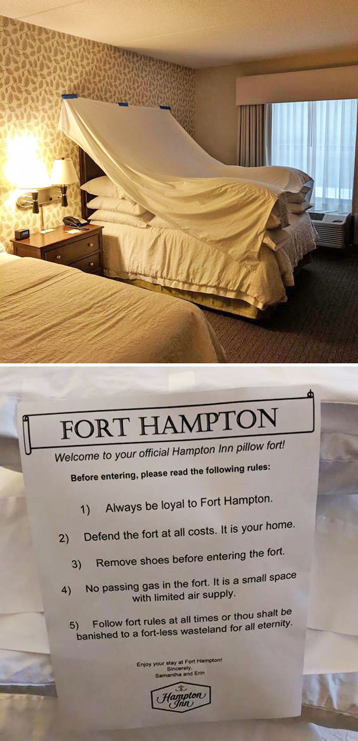 A Buddy Of Mine Travels A Lot For Work, Asked For A Fort...
