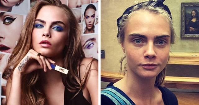 Cosmetics Brand Faces Without Makeup (22 pics)