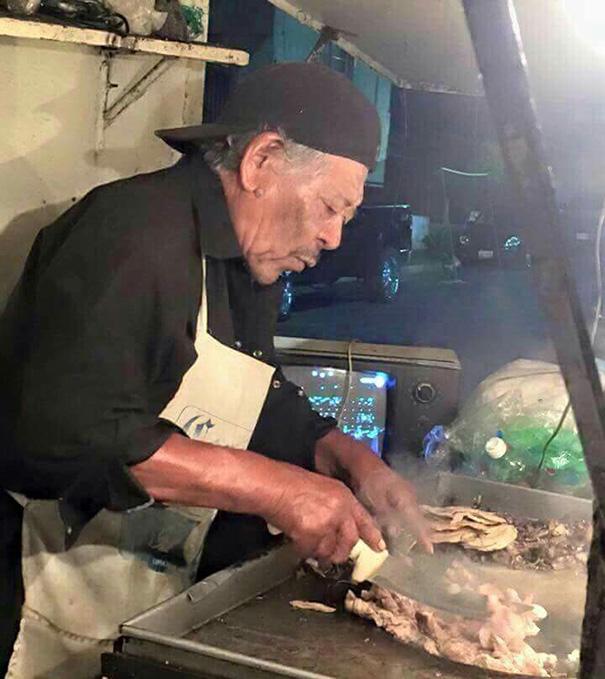 Mexican Morgan Freeman Serving You Tacos