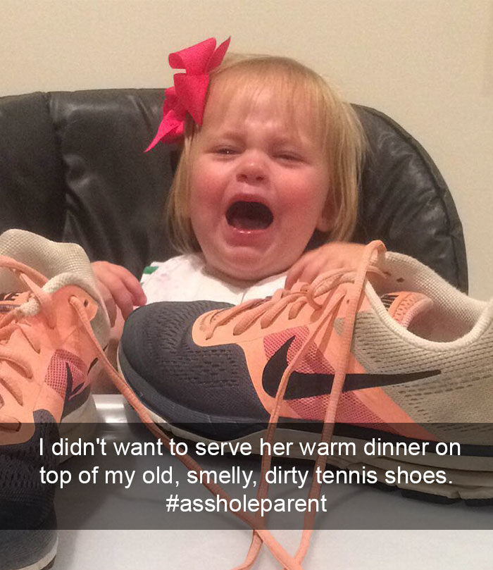 I Didn't Want To Serve Her Warm Dinner On Top Of My Old, Smelly, Dirty Tennis Shoes