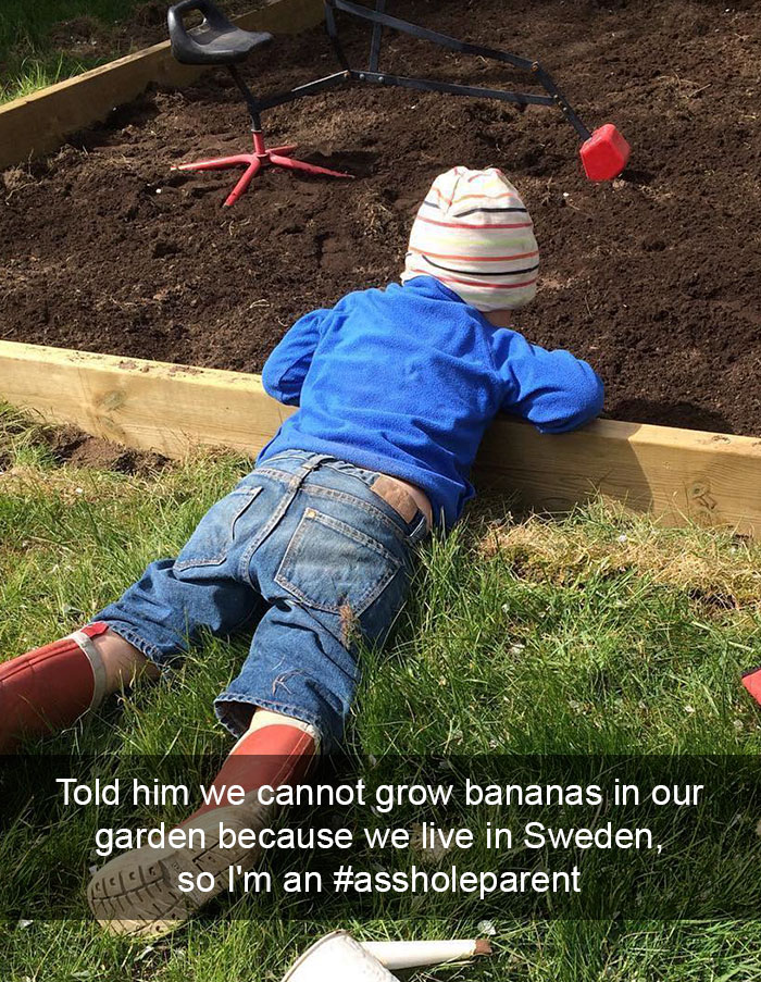 Told Him We Cannot Grow Bananas In Our Garden Because We Live In Sweden, So I'm An #assholeparent