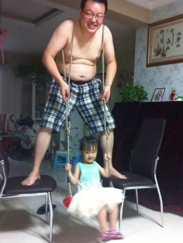 She Wanted A Swing So He Became One